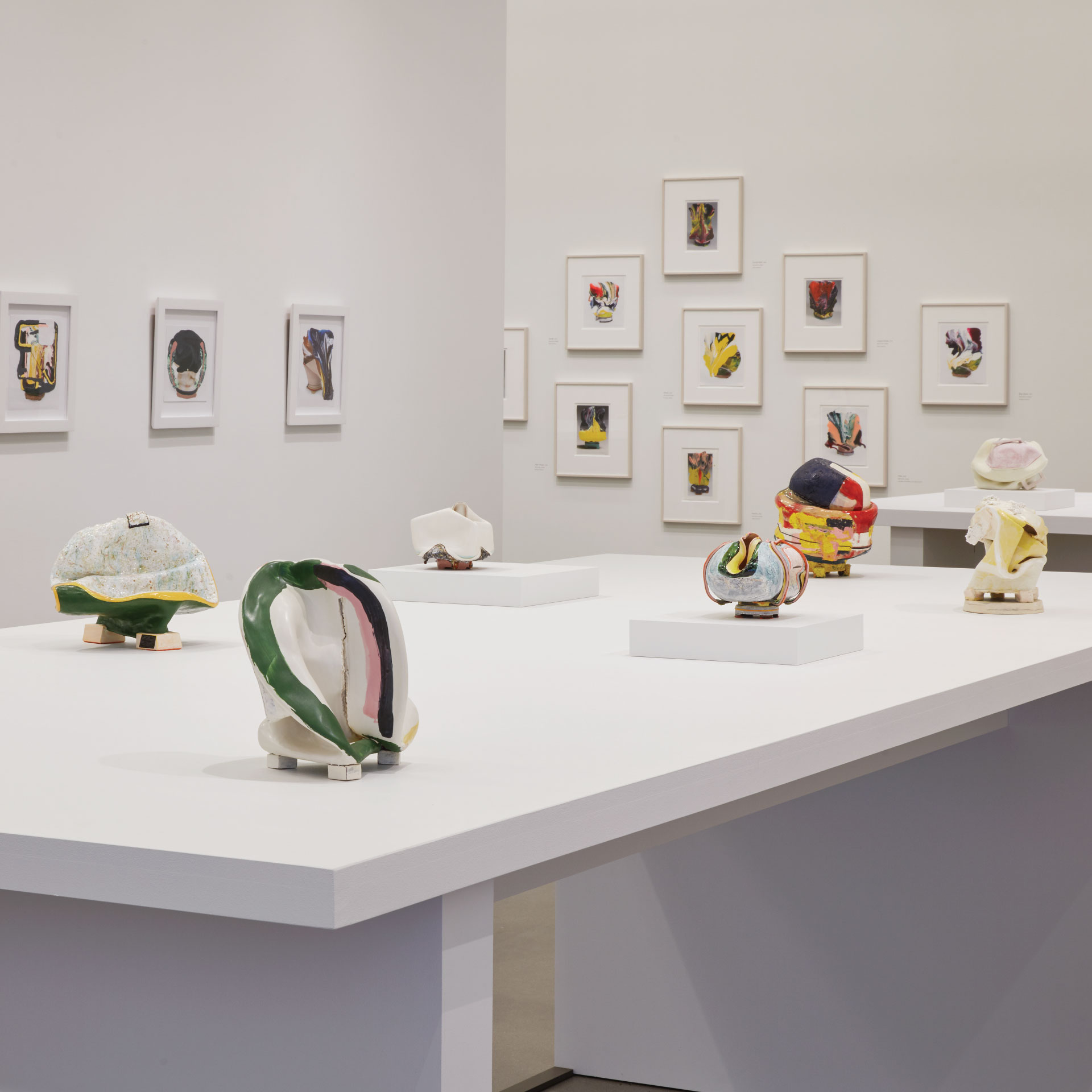Installation view of Butterly's exhibition at the museum.
