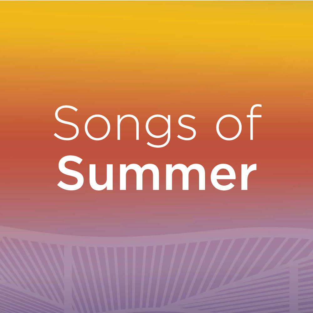 Text reading 'Songs of Summer' written on a gradient background.